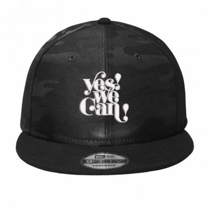 Yes We Can Embroidered Hat Camo Snapback Designed By Madhatter