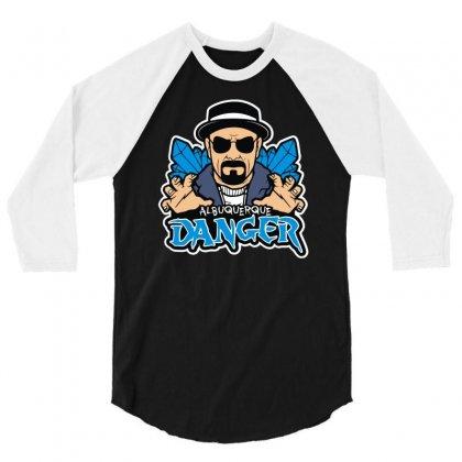 Albuquerque Danger 3/4 Sleeve Shirt Designed By Mdk Art