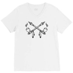 funny indian peace pipe V-Neck Tee | Artistshot