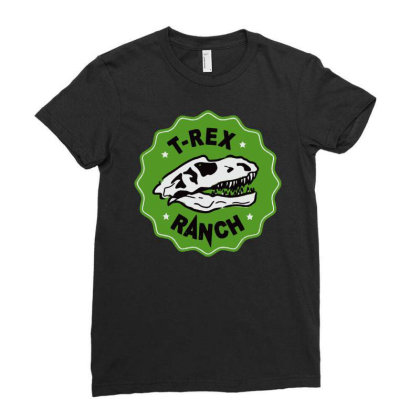 T Rex Ranch Ladies Fitted T-shirt Designed By Jablay