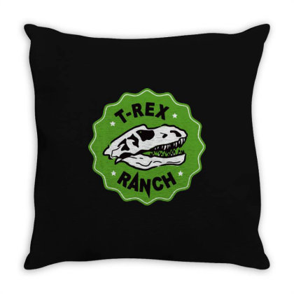 T Rex Ranch Throw Pillow Designed By Jablay