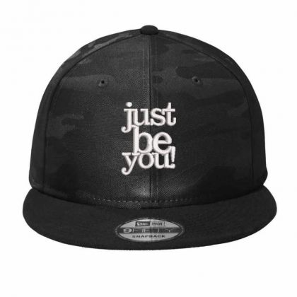 Just Be You Embroidered Hat Camo Snapback Designed By Madhatter