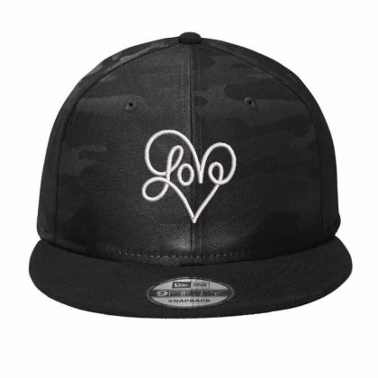Love Embroidered Hat Camo Snapback Designed By Madhatter