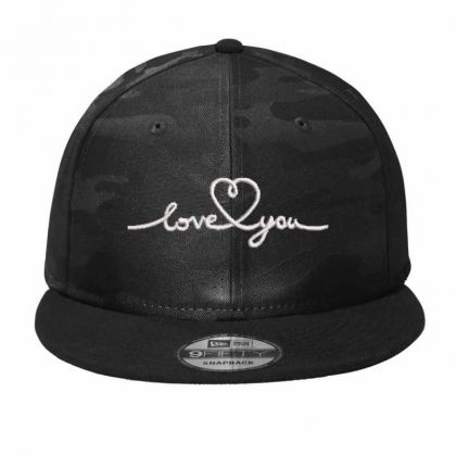 Love You Embroidered Hat Camo Snapback Designed By Madhatter