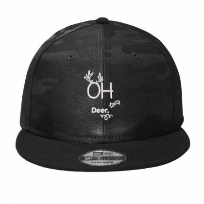 Oh Deer Embroidered Hat Camo Snapback Designed By Madhatter