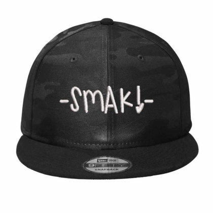 Smake Embroidered Hat Camo Snapback Designed By Madhatter