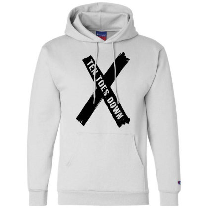 Deestroying Ten Toes Down Ttd Merch Champion Hoodie Designed By Just4you
