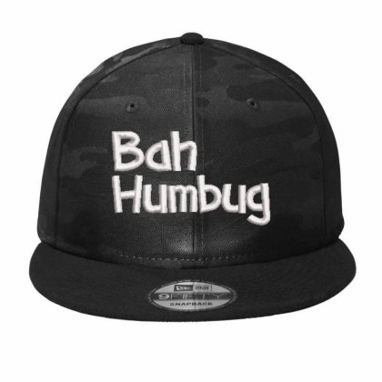 Bah Humbag Embroidered Hat Camo Snapback Designed By Madhatter