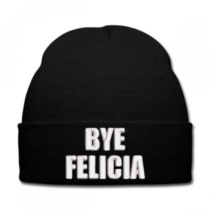 Bye Felıcla Embroidered Hat Knit Cap Designed By Madhatter