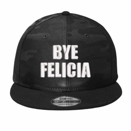 Bye Felıcla Embroidered Hat Camo Snapback Designed By Madhatter