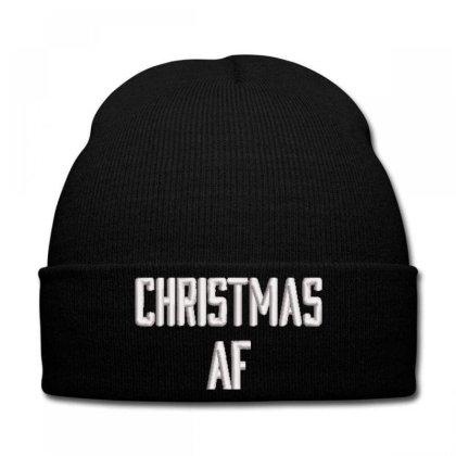 Chrıstmas Af Embroidered Hat, Knit Cap Designed By Madhatter
