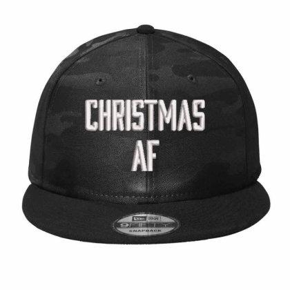Chrıstmas Af Embroidered Hat, Camo Snapback Designed By Madhatter