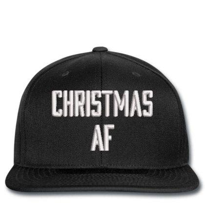 Chrıstmas Af Embroidered Hat, Snapback Designed By Madhatter