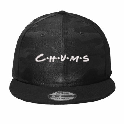 C.h.u.m.s Embroidered Hat, Camo Snapback Designed By Madhatter