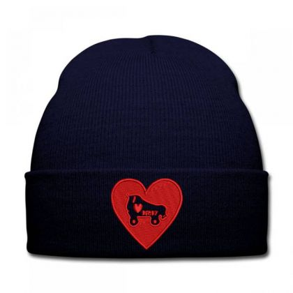 Heart Embroidered Hat Knit Cap Designed By Madhatter
