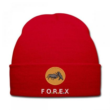 F.o.r.e.x Embroidered Hat Knit Cap Designed By Madhatter