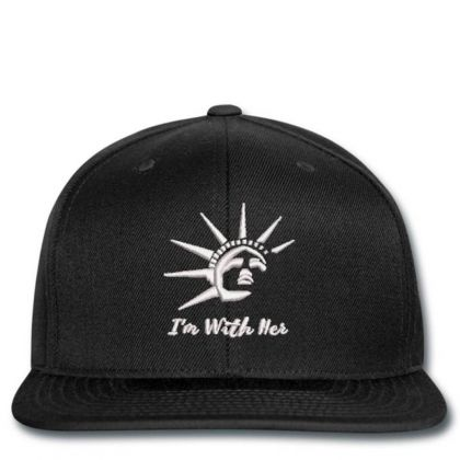I'm With Her Embroidered Hat Snapback Designed By Madhatter