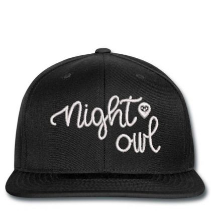 Night Owl Embroidered Hat Snapback Designed By Madhatter