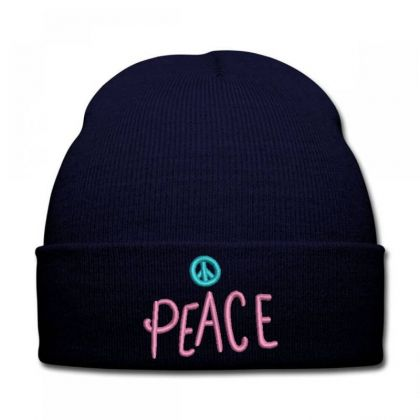 Peace Embroidered Hat Knit Cap Designed By Madhatter