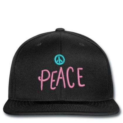 Peace Embroidered Hat Snapback Designed By Madhatter