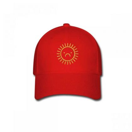 Sad Sun Embroidered Hat Baseball Cap Designed By Madhatter