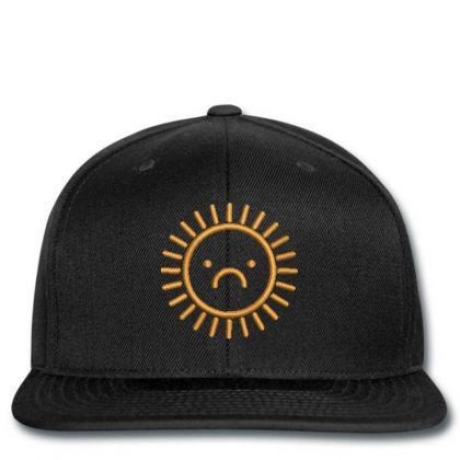 Sad Sun Embroidered Hat Snapback Designed By Madhatter
