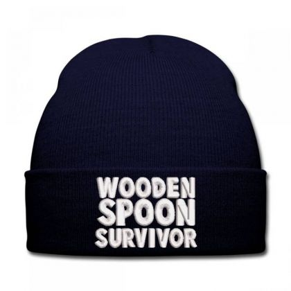 Wooden Spoon Survivor Embroidered Hat Knit Cap Designed By Madhatter