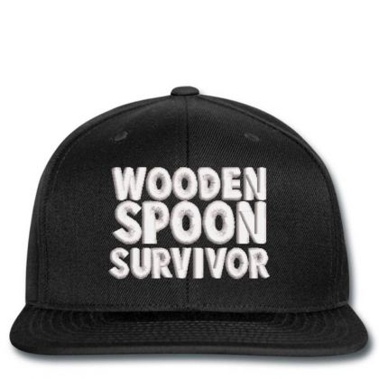 Wooden Spoon Survivor Embroidered Hat Snapback Designed By Madhatter