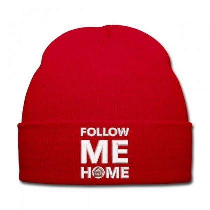 Follow Me Home Embroidered Hat Knit Cap Designed By Madhatter