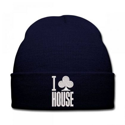 I Leaf House Embroidered Hat Knit Cap Designed By Madhatter