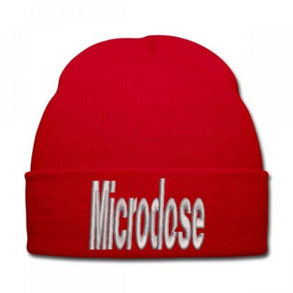 Microdose Embroidered Hat Knit Cap Designed By Madhatter
