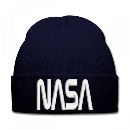 Nasa Embroidered Hat Knit Cap Designed By Madhatter