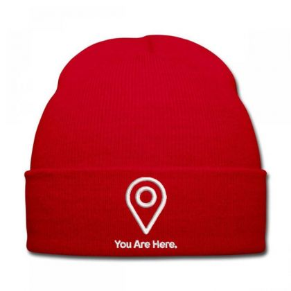 Location Embroidered Hat Knit Cap Designed By Madhatter