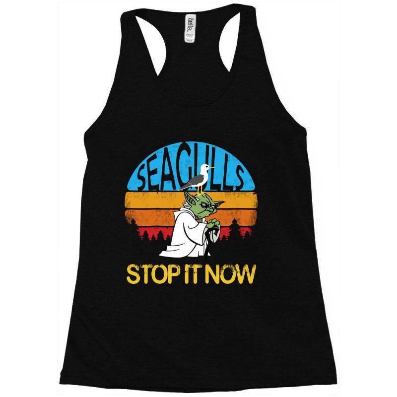 Retro Vintage Seagulls Stop It Now Racerback Tank | Artistshot