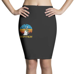 retro vintage seagulls stop it now Pencil Skirts | Artistshot