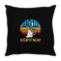 retro vintage seagulls stop it now Throw Pillow | Artistshot