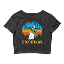 retro vintage seagulls stop it now Crop Top | Artistshot
