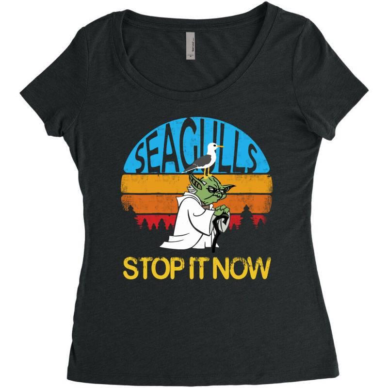Retro Vintage Seagulls Stop It Now Women's Triblend Scoop T-shirt | Artistshot
