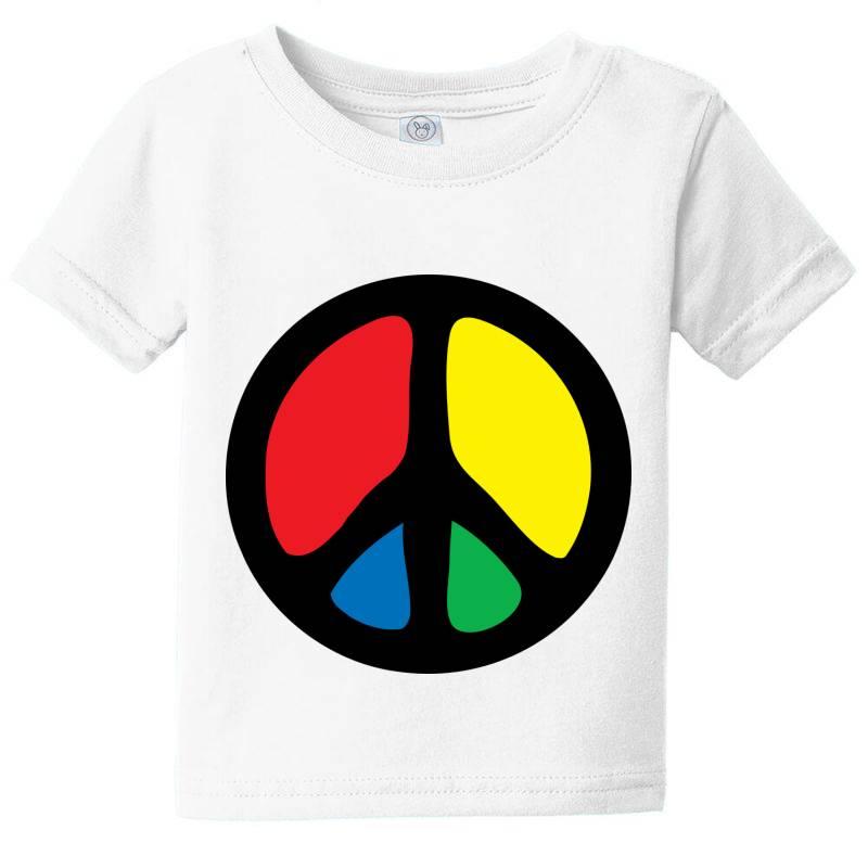 Peace Logo Baby Tee | Artistshot