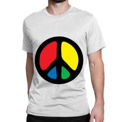 Peace Logo Classic T-shirt Designed By Danz Blackbirdz