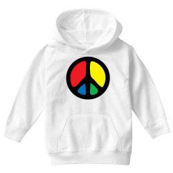 PEACE LOGO Youth Hoodie | Artistshot