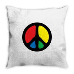 PEACE LOGO Throw Pillow | Artistshot