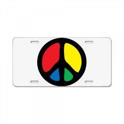PEACE LOGO License Plate | Artistshot