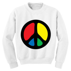 PEACE LOGO Youth Sweatshirt | Artistshot
