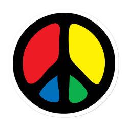Peace Logo Sticker Designed By Danz Blackbirdz