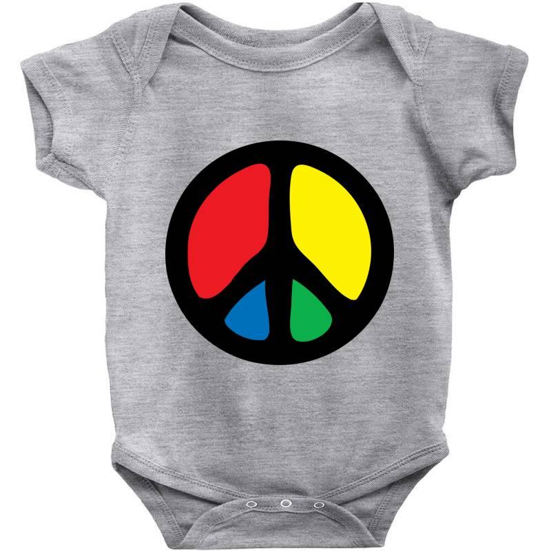 Peace Logo Baby Bodysuit   Artistshot