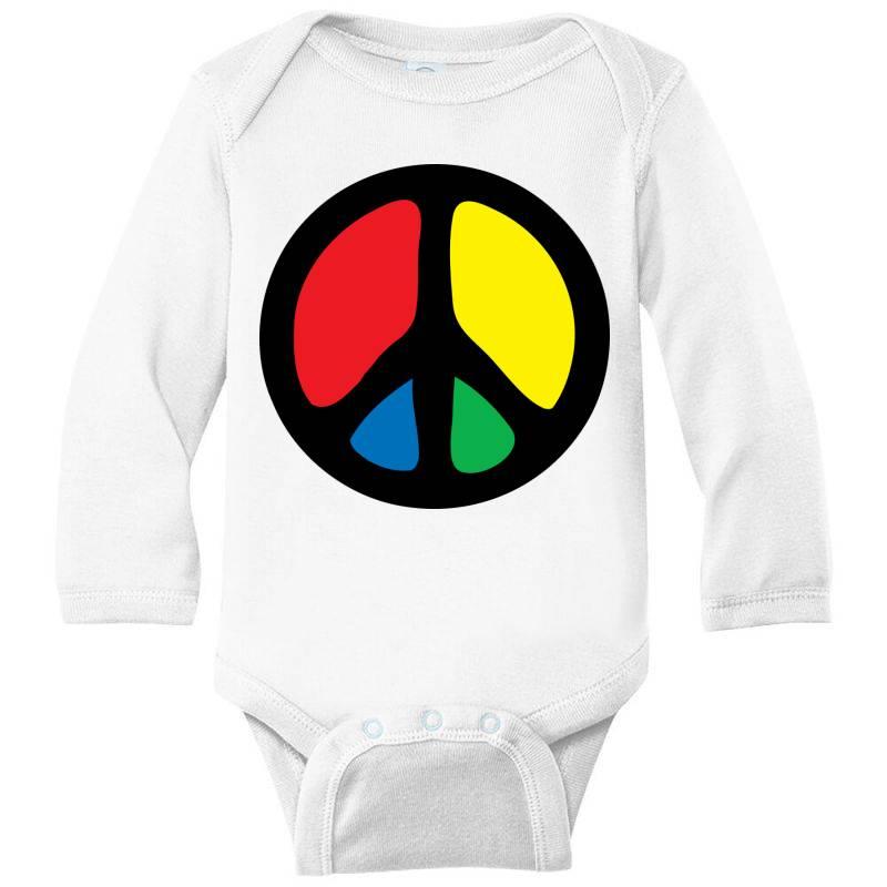 Peace Logo Long Sleeve Baby Bodysuit | Artistshot