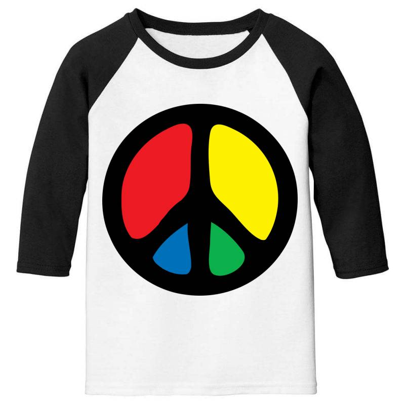 Peace Logo Youth 3/4 Sleeve | Artistshot