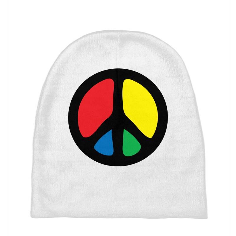 Peace Logo Baby Beanies | Artistshot