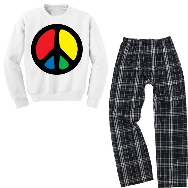 Peace Logo Youth Sweatshirt Pajama Set   Artistshot